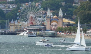 Luna Park, Just for Fun on the shore at Milsons Point below the Harbour Bridge.