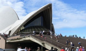 On the steps of the Opera House