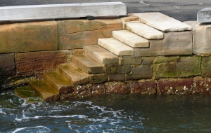 The Man O War steps at Benelong Point beside the Opera House.