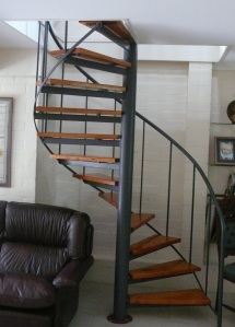 It is not often you find a spiral staircase inside a private home/