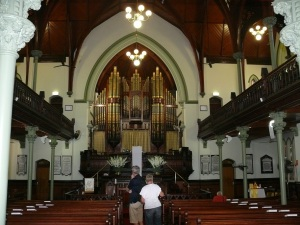 Inside Albert Street Uniting Church.