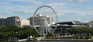 Ferris Wheel beside Brisbane River.
