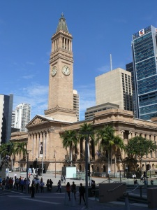 Brisbane Town Hall and King George Square.