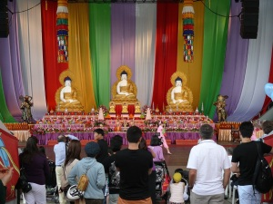 Performing stage at the Buddhist Festival