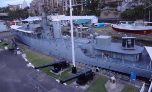 """HMAS DIAMENTINA"" at the maritime museum."