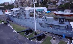 """HMAS DIAMENTINA"" at the maritime museum."