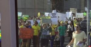 Agitated Brazillian protestors
