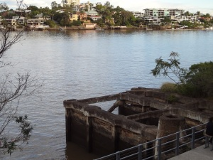 Looking south across Brisbane River from the Powerhouse.