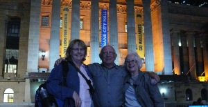 Donnis tony and dawn outside the Brisbane Town Hall.