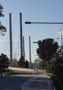 The Elaenor Schonell Bridge from the University of Queensland side.