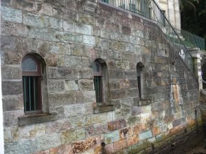 Brisbane Tuff river wall at the Brisbane Customs House.
