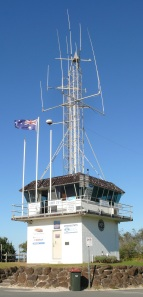 VMR (Volunteer Marine Rescue) Station on the Cudgen Creek Point at Kingscliff Beach, NSW.