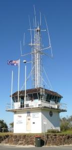 VMR (Volunteer Marine Rescue) Station on the Cudgen Creek Point at Kingscliff Beach, NSW.