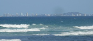 Looking from Surfers back to Coolangatta. Usually my photos are taken from Coolangatta looking back to Surfers.