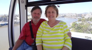 Frank and Donnis on the ferris wheel.