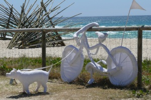 This sculpture??? evokes memories of another time, another place. At a beach...somewhere.