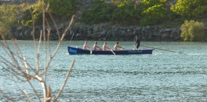 ...and the surfboat crew were in training.
