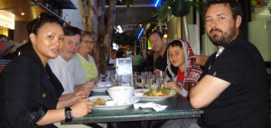 Donnis, Frank Regelyn, Peter, Chris and Jason at the no flavour Pig  and Whistle