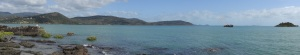 Panorama of Pioneer Bay at Cannonvale Beach
