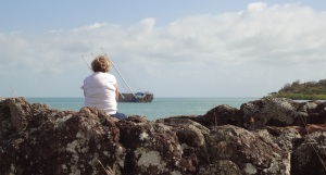 """The final resting place for Darlenes ashes is also the final resting place of the schooner """"WHITSUNDAY MAGIC"""""""