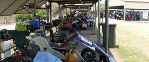Go Kart pit lane.