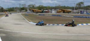 This corner was a tight challenge and a few karts spun out here.