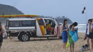 Life guard vehicle at Sunshine Beach