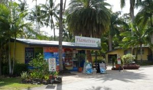 Entrance to Flametree Tourist Village