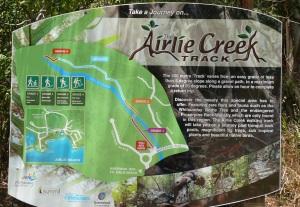 Beginning of Airlie Creek Track