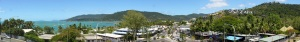 Panoramic view of Pioneer Bay and Airlie Beach main street. Best viewed full size by double clicking.