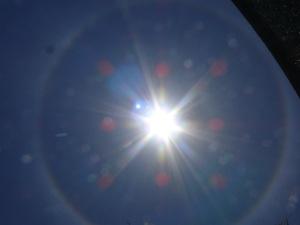 Halo around the sun.
