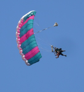 Sky Diving over Airlie Beach