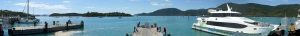Panorama from jetty at Shute Harbour