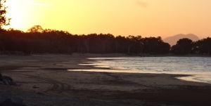 Shoal Point low tide and sunset.