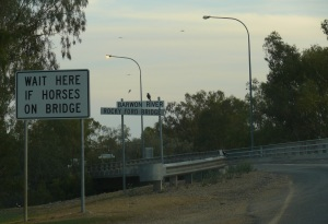 The bridge out of town on the way to Moree.
