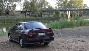 RALLYE taking in the last of the setting sun on the banks of the Barwon.