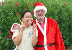 Santa with nurse Heptz from The Phillipines.