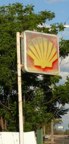 Shell sign.