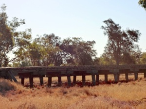 Old railway bridge. The train does not run out west anymore.