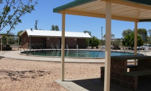 Lightning Ridge Artesian Bore Spa Pool. Too hot for anybody to enter the water.