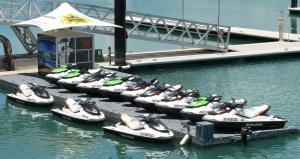 Jet Ski's waiting for Averyl, Paul, Shelby, Anakin and all the other tourists in the class.