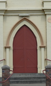 Old church which is now a movie theatre at Glen Innes in the New England district of northern NSW.