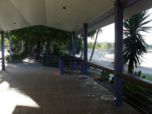 There is about 200 metres o9f this covered walkway along the Airlie Beach foreshore.
