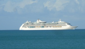 Cruise ship.
