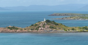 This is the lighthouse at Bowen where I could not zoom in because the wind was too strong.,
