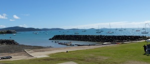 View of Pioneer Bay from the Whitsunday Sailing Club.