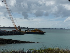 Inside the Hay Point Harbour.