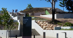 One of several walking entrances to Kissing Point Fort.