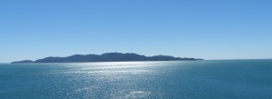 Looking across Cleveland Bay to Magnetic Island as seen from the Kissing Point Fort.