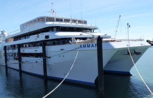 The tourist ship AMMARI destined to be refitted as a medical ship and used to provide medical services to remote villages in Papua New Guinea.